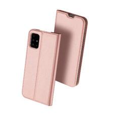 Dux Ducis Samsung Galaxy A51 rózsaarany flip tok 2