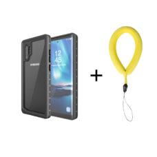 Redpepper Samsung Galaxy Note 10+ fekete vízálló tok 2