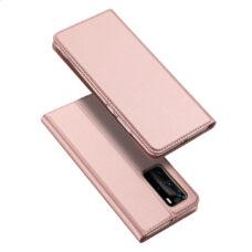 Dux Ducis Huawei P40 Pro rózsaarany flip tok 1