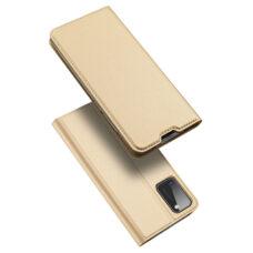 Dux Ducis Samsung Galaxy A41 arany flip tok 1