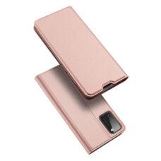 Dux Ducis Samsung Galaxy A41 rózsaarany flip tok 1