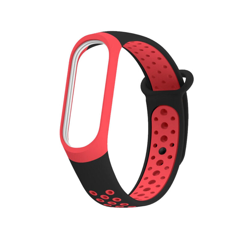 Xiaomi Mi Band 5 okosóra szíj piros szilikon