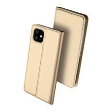 Dux Ducis Apple iPhone 11 arany flip tok 2
