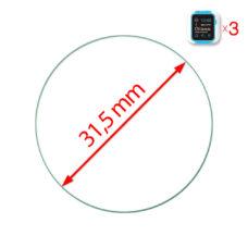 Óra normál üvegfólia 31.5 mm