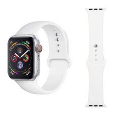Apple Watch szilikon szíj fehér 1