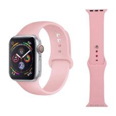 Apple Watch szilikon szíj púderrózsaszín 1