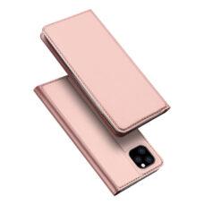 Dux Ducis Apple iPhone 12 Pro rózsaarany flip tok 1