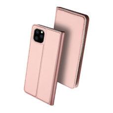 Dux Ducis Apple iPhone 12 Pro rózsaarany flip tok 2