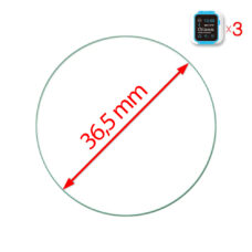 Óra normál üvegfólia 36.5 mm