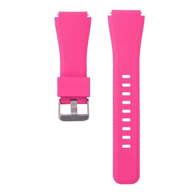 Univerzális bordázott szilikon szíj pink 1
