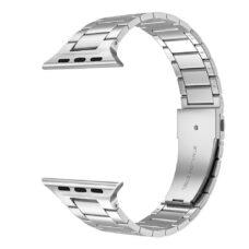 Apple Watch láncszemes fém szíj ezüst 1