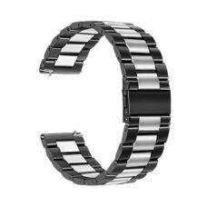 Univerzális láncszemes fém szíj fekete-ezüst 1