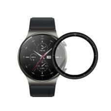 Huawei Watch GT 2 Pro okosóra 3D fólia fekete kerettel 1
