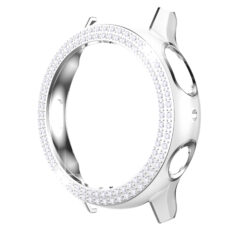 Samsung Galaxy Watch Active 2 44 mm okosóra fehér-ezüst színű strasszköves pc tok 1