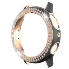 Samsung Galaxy Watch Active 2 44 mm okosóra fekete-rózsaarany színű strasszköves pc tok 1