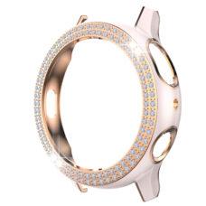 Samsung Galaxy Watch Active 2 44 mm okosóra rózsaszín-rózsaarany színű strasszköves pc tok 2