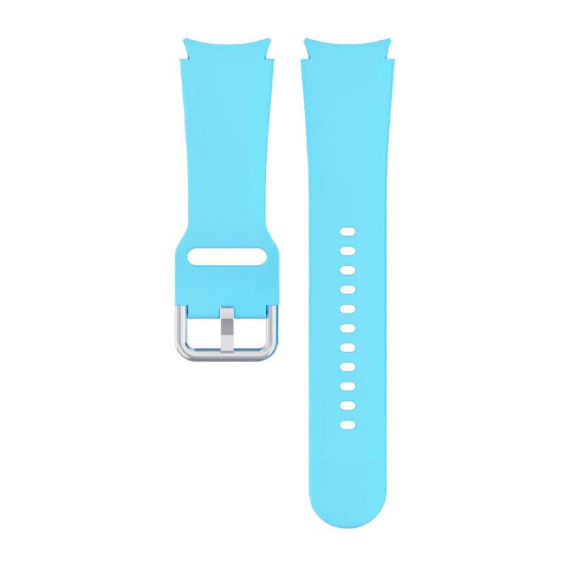 Samsung Galaxy Watch 4 bújtatós csatos szilikon szíj égkék 1
