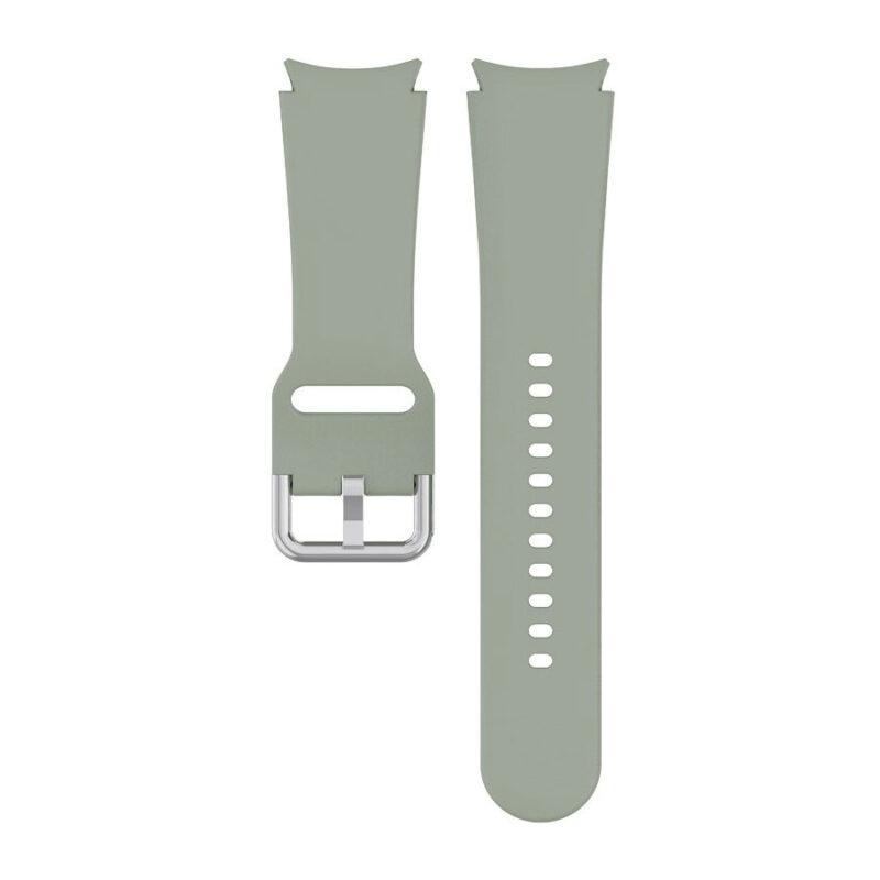 Samsung Galaxy Watch 4 bújtatós csatos szilikon szíj olívazöld 1